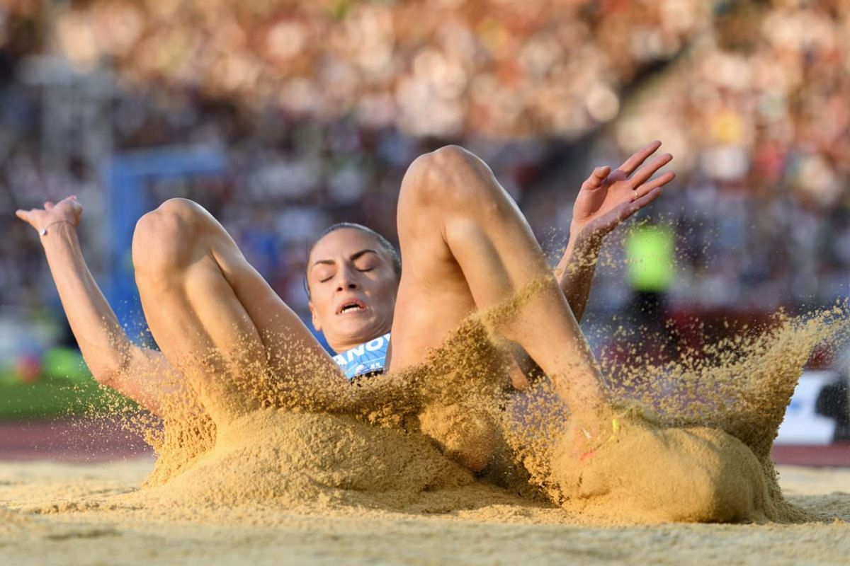 Ivana Spanovic from Serbia competes in the women's long jump event, during the IAAF Diamond League international athletics meeting in Zurich, Switzerland, on Sept 1, 2016.