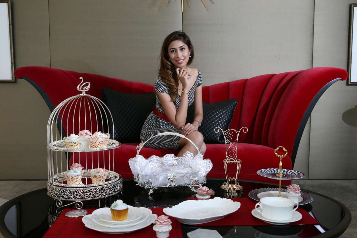 Ms Shahnaz Nazimudden, 25, owner of Lovlihaus, an online store which sells home decor accessories.