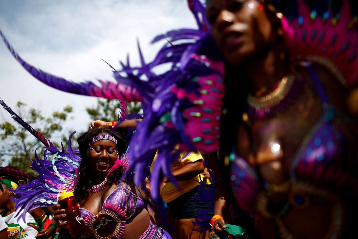 Participants dance during the West Indian Day Parade in the Brooklyn borough of New York September 5, 2016. PHOTO: REUTERS