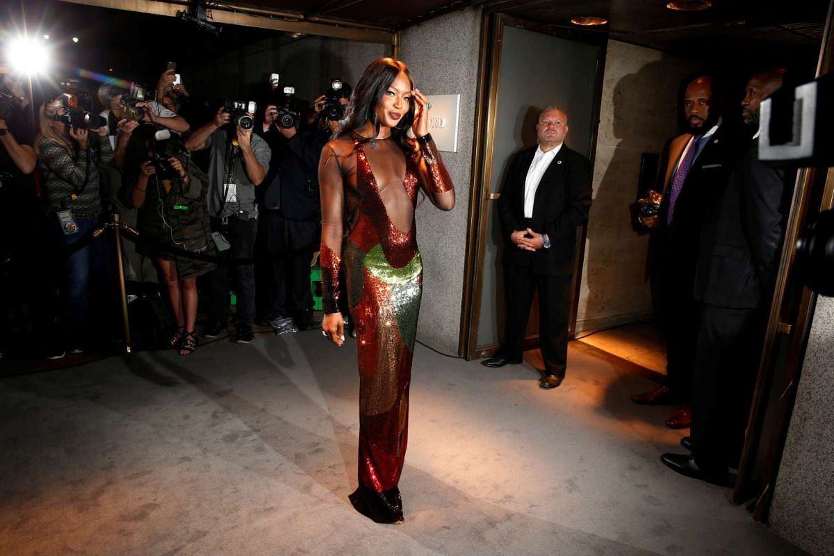 Model Naomi Campbell arrives to attend a presentation of Tom Ford's Autumn/Winter 2016 collections during New York Fashion Week in the Manhattan borough of New York, US on Sept 7, 2016.