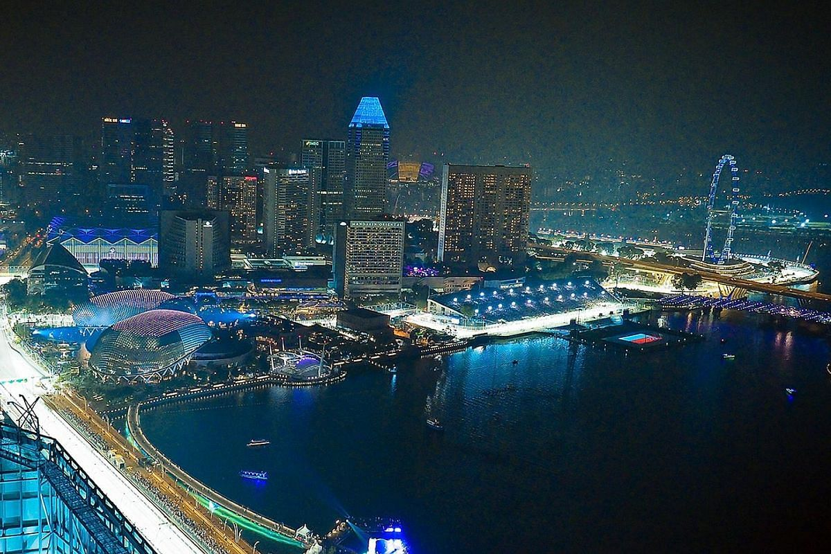 The view from Empire, which is hosting the fifth Sky Grande Prix with Skyline club from Wednesday to Sept 18.