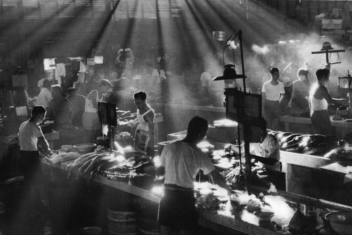 Clarke Quay's Teochew market, taken in 1961 by Mr Lui Hock Seng.