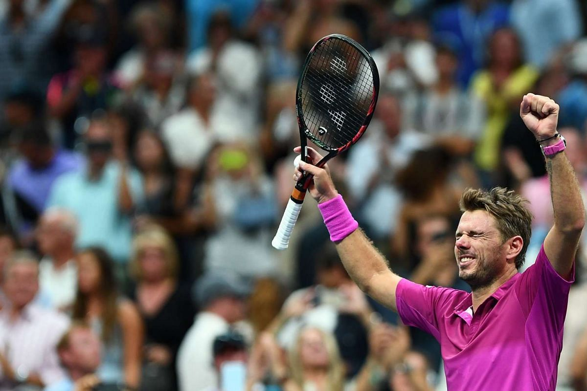 Stan Wawrinka of Switzerland celebrates after defeating Novak Djokovic of Serbia in their 2016 US Open Men's Singles final match at the USTA Billie Jean King National Tennis Center in New York on Sept 11, 2016.