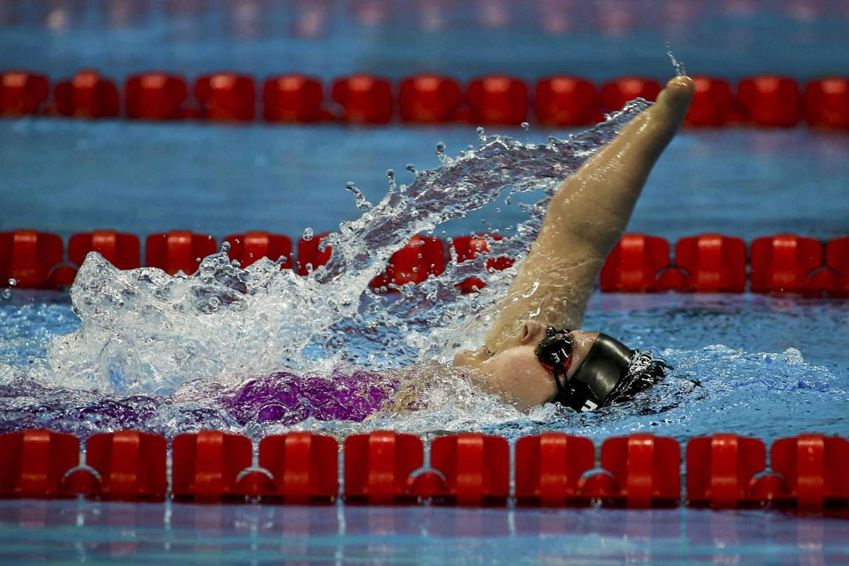 Nikita Howarth of New Zealand competes during the women's 200m IM during the Rio Paralympics on Sept 13, 2016.