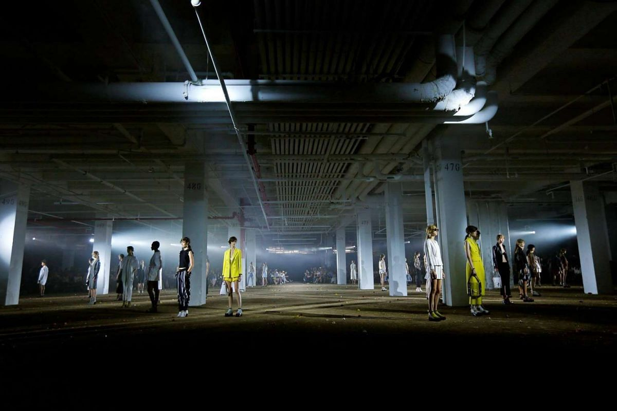 Models at Phillip Lim's show at New York Fashion Week on Sept 12, 2016.