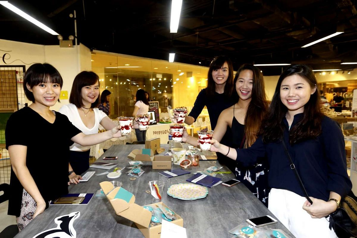 A DIY granola parfait-making class at lifestyle and design chain Naiise.