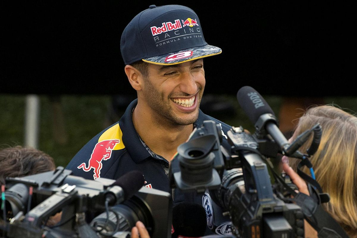 Red Bull's Daniel Ricciardo of Australia gives an interview ahead of the Singapore F1 Grand Prix. He believes one can win and still be a nice guy at the same time.