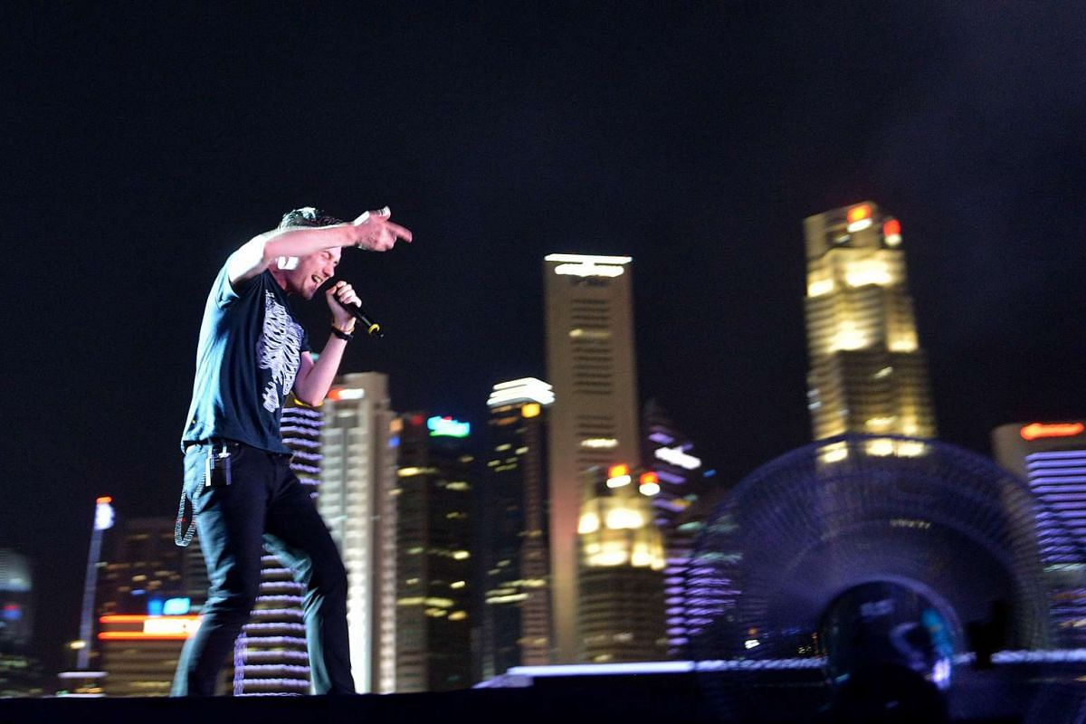 British band Bastille perform at the Padang stage during the 2016 Formula One Singapore Airlines Singapore Grand Prix on Sept 17, 2016.