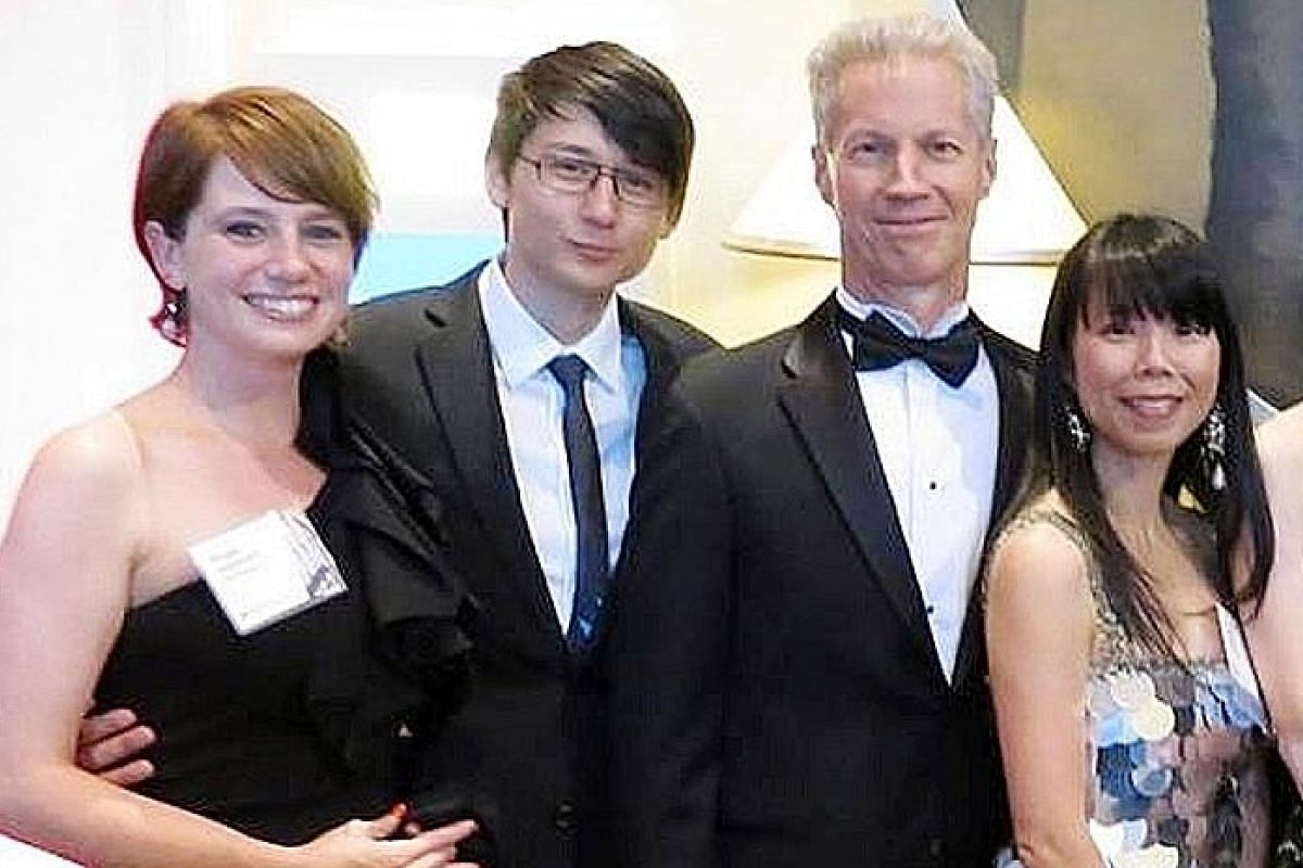My life so far: (From right) JuE Wong with her partner Todd Thorson, her son Derek Fidler and his girlfriend Angie Lanier.
