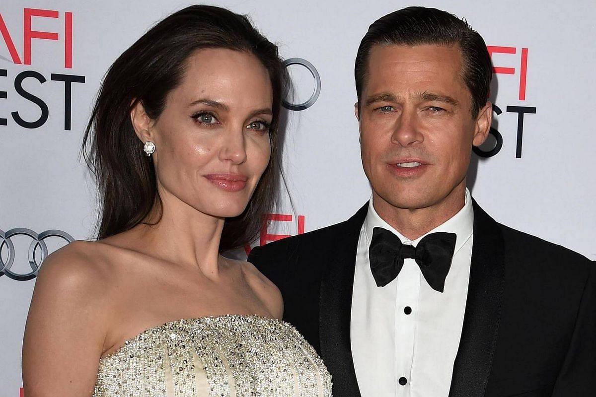 Angelina Jolie and Brad Pitt arrive for the opening night premiere of Universal Pictures' By the Sea at the TCL Chinese Theatre in Hollywood, California.