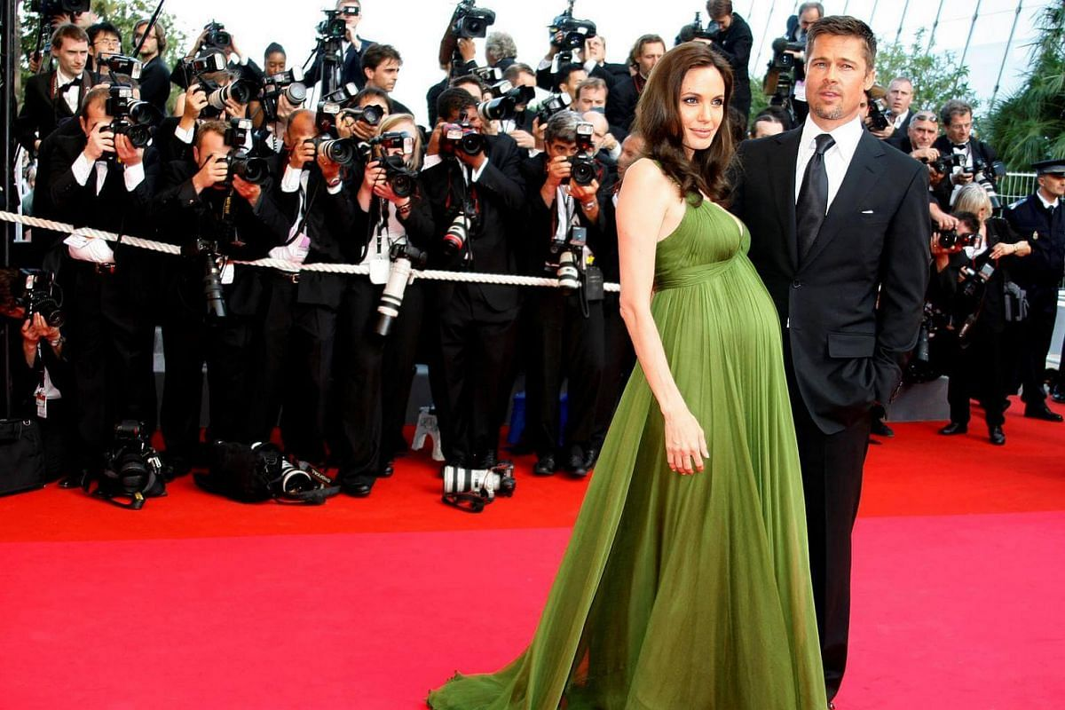 Angelina Jolie and Brad Pitt arrive for the screening of the animated film Kung Fu Panda at the 61st Cannes Film Festival on May 15, 2008.