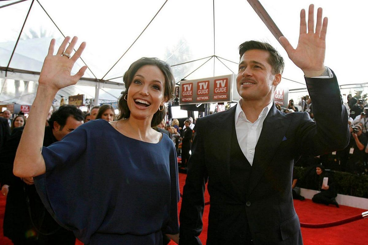 Angelina Jolie and Brad Pitt at the 15th annual Screen Actors Guild Awards in Los Angeles, on Jan 25, 2009.