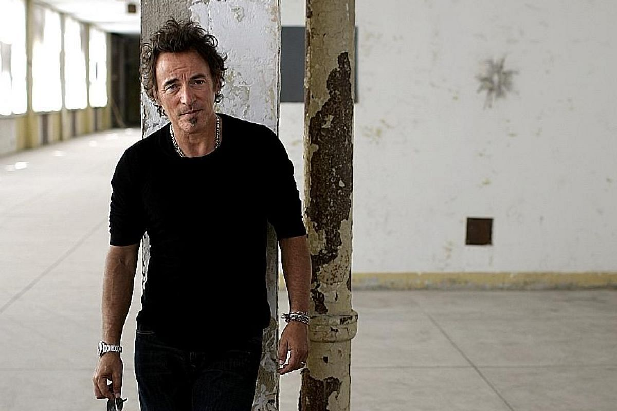 Bruce Springsteen in a 2007 photograph. Judging by early tweets about his memoir, Born To Run (above right), he suffered periodically from serious depression.