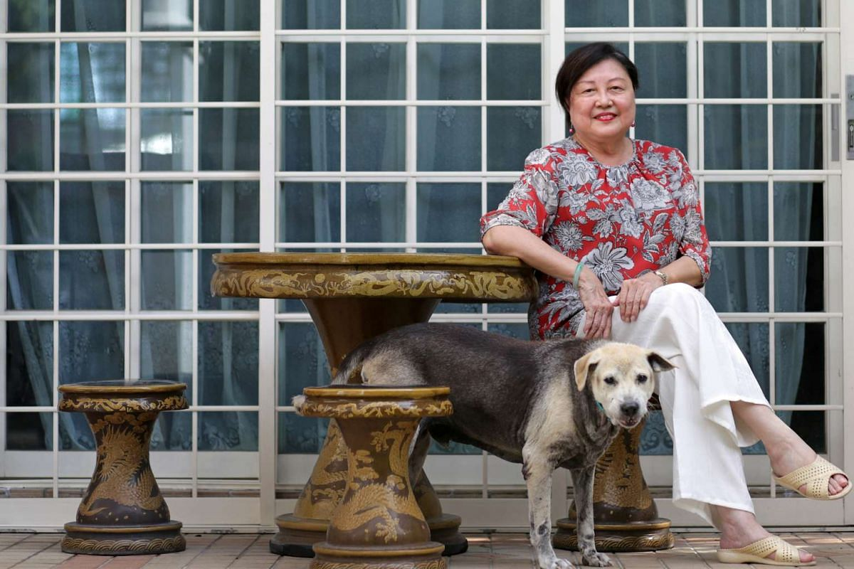 Madam Chua Foo Yong (above) prefers to dine at a hawker centre instead of a restaurant.