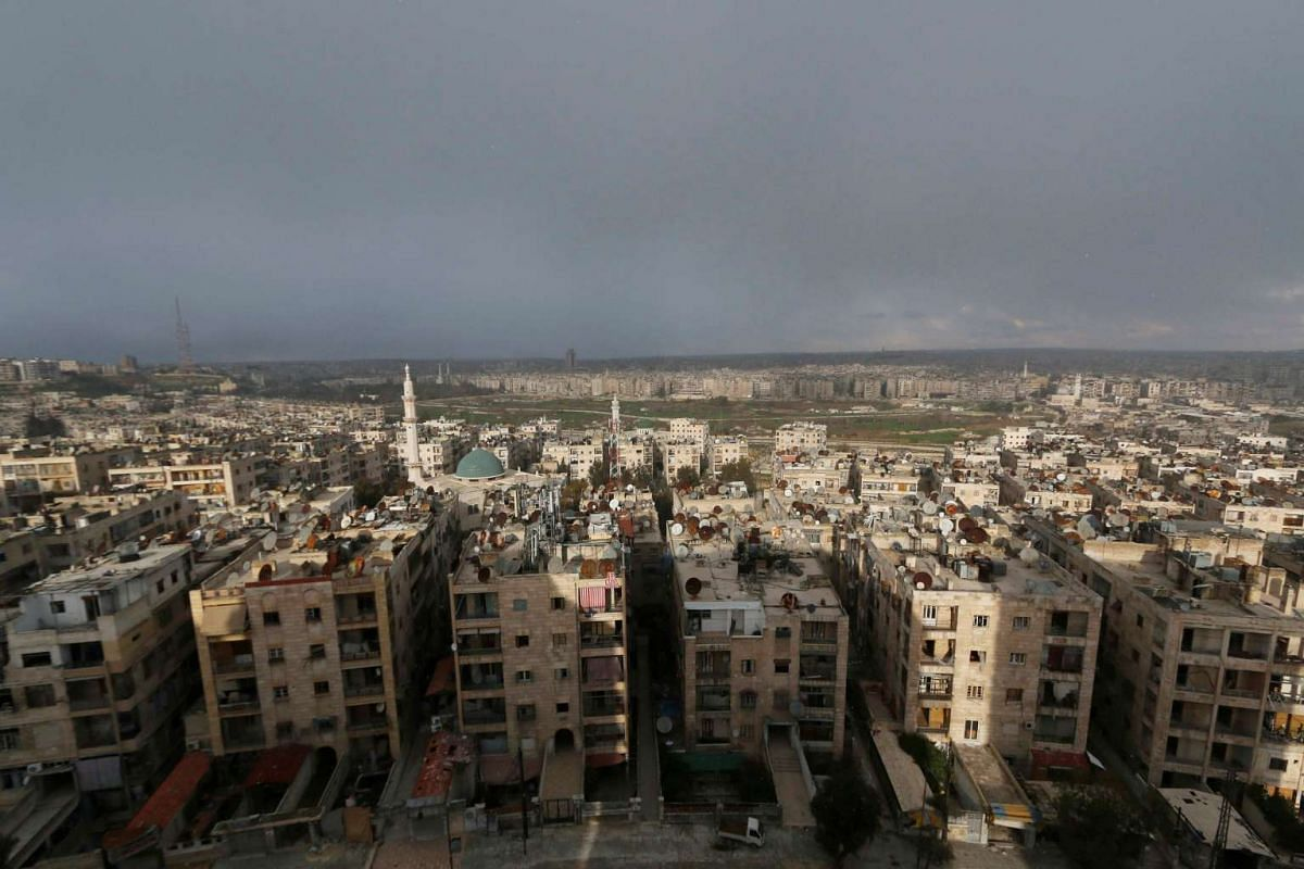 Aleppo city on Jan 9.