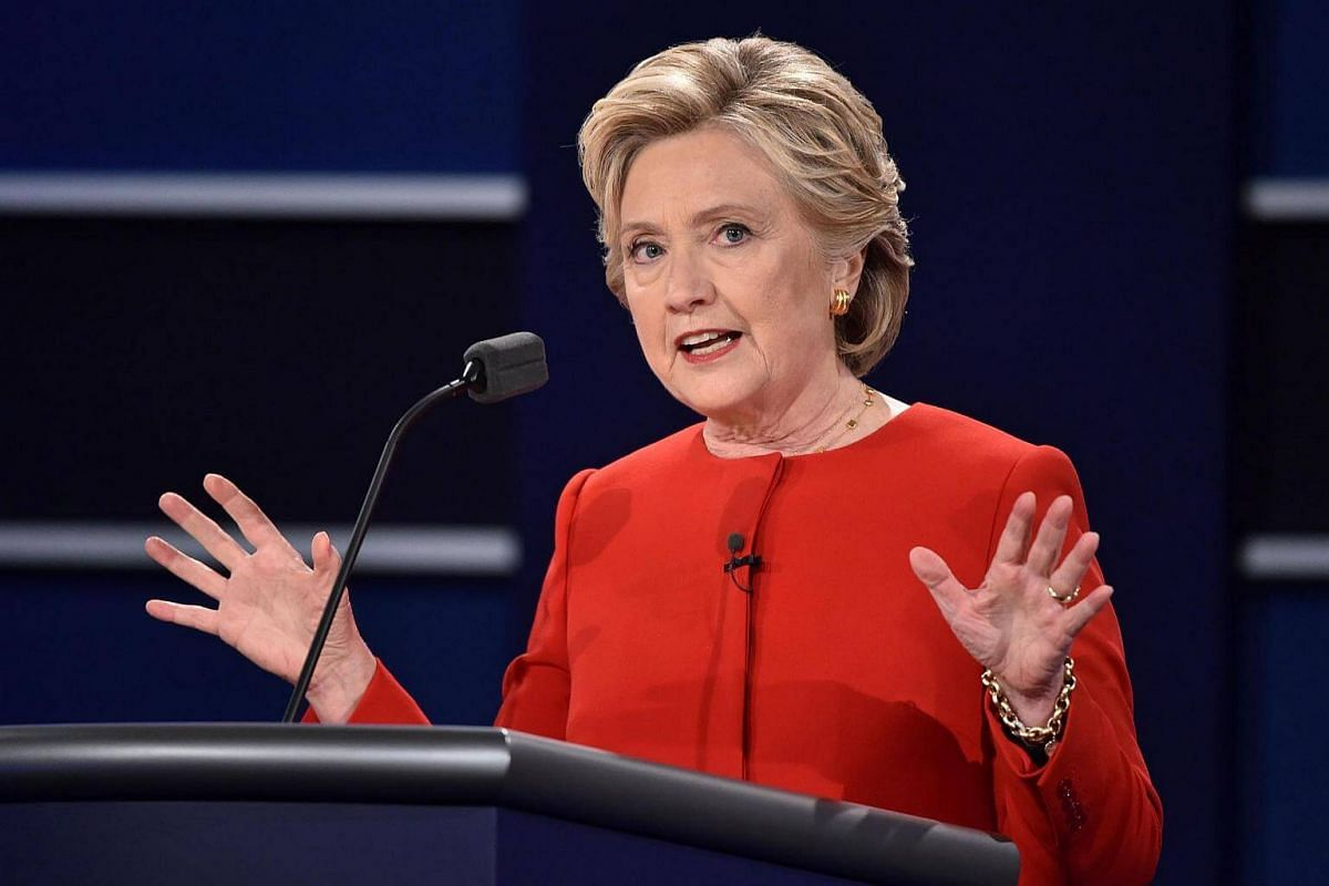 Democratic nominee Hillary Clinton speaks during the first presidential debate at Hofstra University in Hempstead, New York, on Sept 26, 2016.
