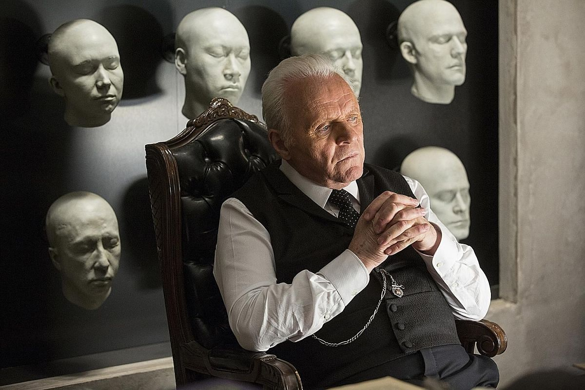 In the upcoming science-fiction western drama Westworld, actor Anthony Hopkins (above) plays Dr Robert Ford, creator of the Westworld theme park.