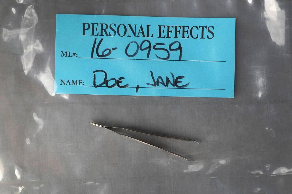 Personal effects found on the body of a suspected undocumented immigrant are stored at the Office of the Pima County Medical Examiner on Sept 29, 2016 in Tucson, Arizona.