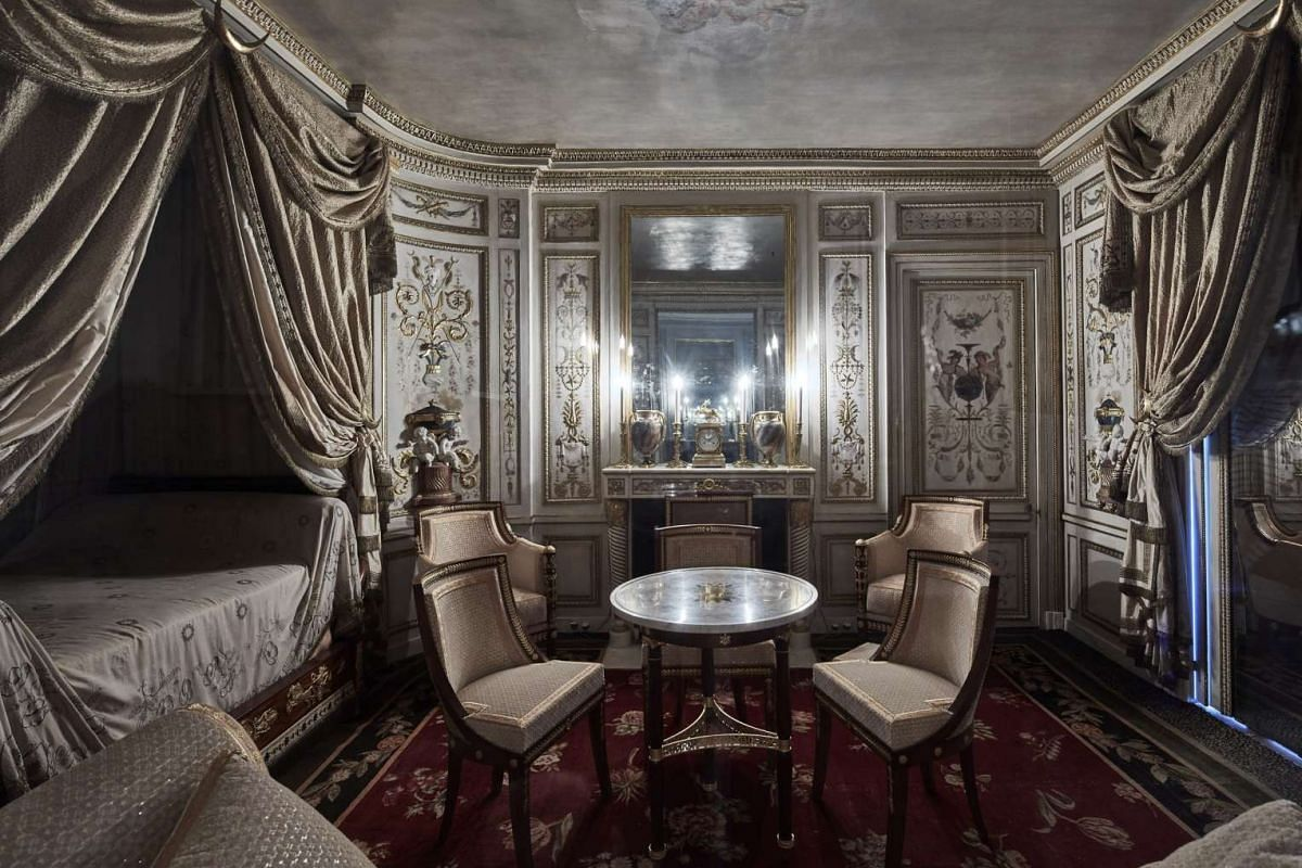 The Turkish boudoir where Marie Antoinette would entertain an inner circle of friends.