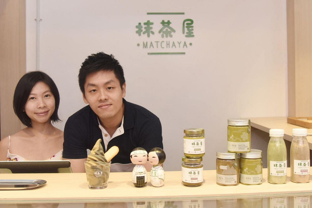 Owners of Matchaya, Mr Kevin Chee and Ms Kaelyn Ong, are going into merchandise to diversify their business.