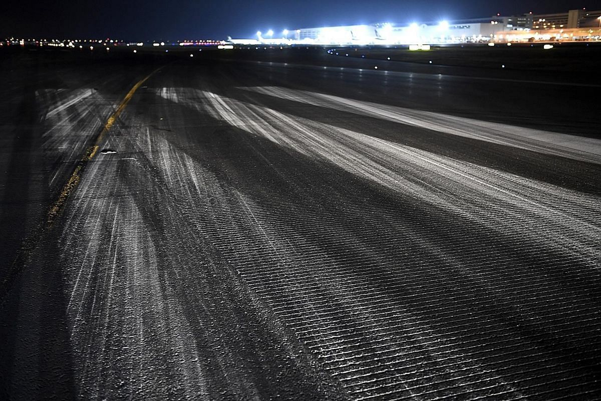 A lit cross sign is placed at both ends of the runway to tell pilots it is off-limits. Last Friday, The Straits Times got a rare peek into what happens when Changi's runways are shut. The moment the air traffic control tower gives the all-clear, the