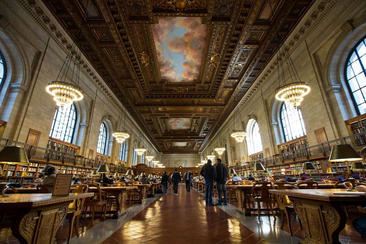 An view of the Rose Main Reading Room at the New York Public Library on Oct 5, 2016. The reading room had been closed for two years for a US$12 million (S$16.4 million) restoration and reopened on Wednesday to the public.