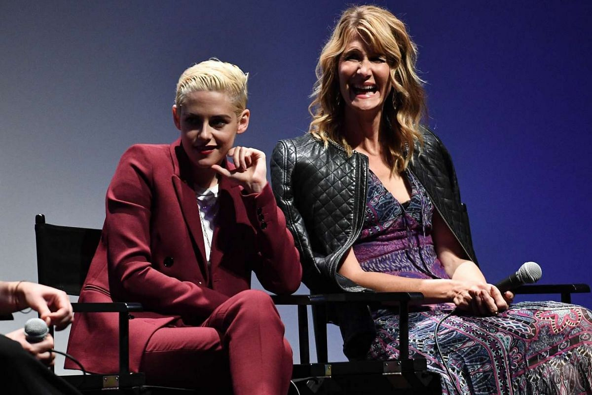 Kristen Stewart and Laura Dern field questions during a Q&A for their new film, Certain Women,  at Alice Tully Hall, Lincoln Center.