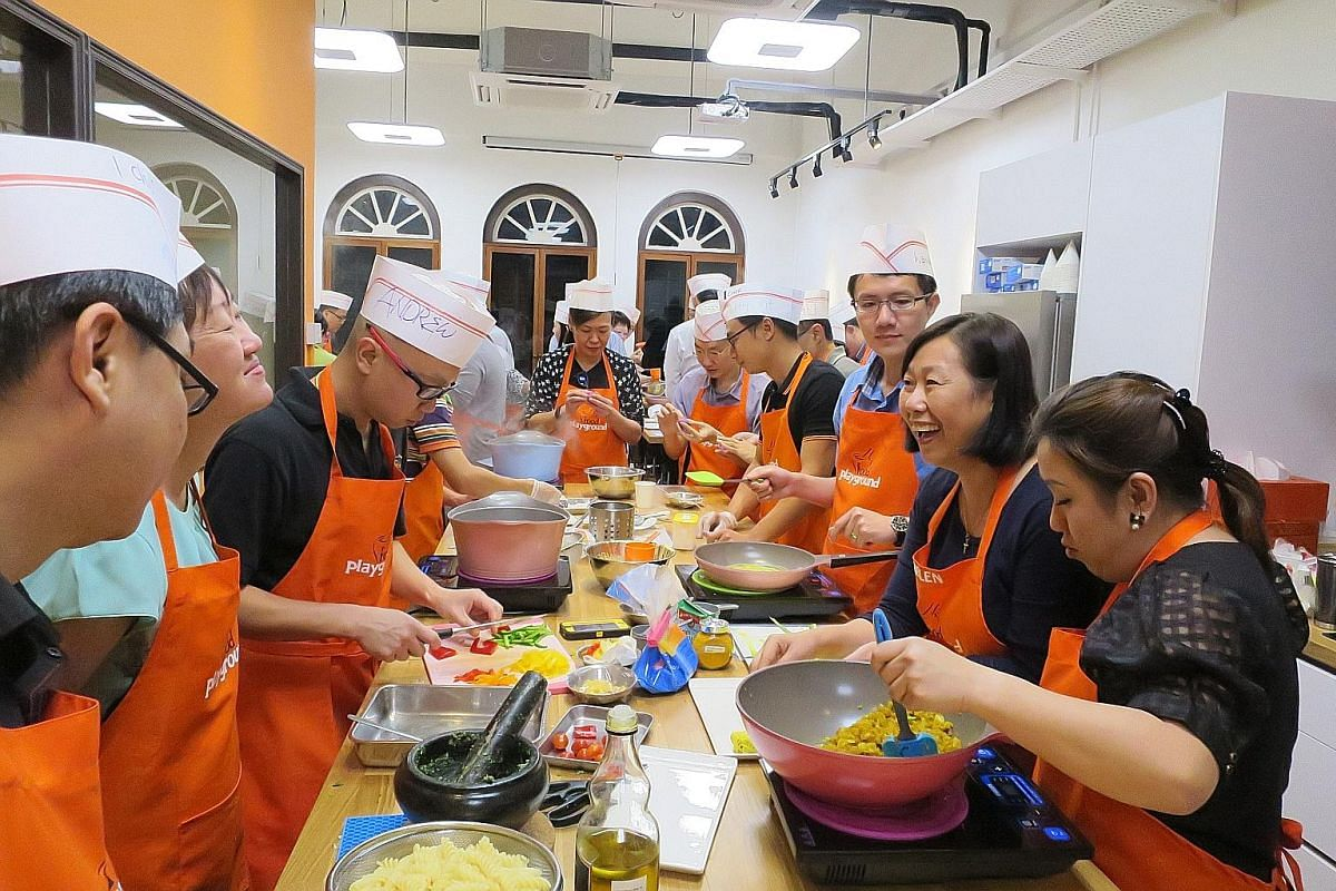 Cooking studio Food Playground engages stay-at-home mothers and senior citizens to teach the cooking of local delicacies.