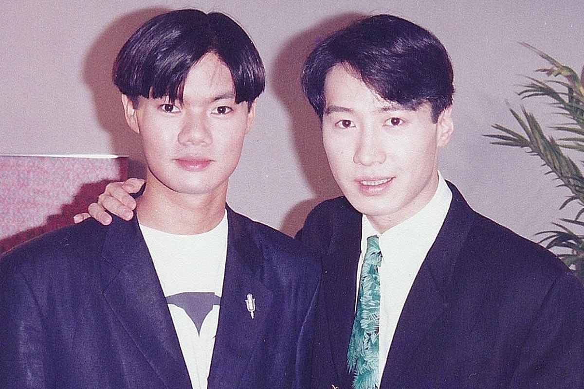 My life so far: With Heavenly King Leon Lai (left) in 1993.
