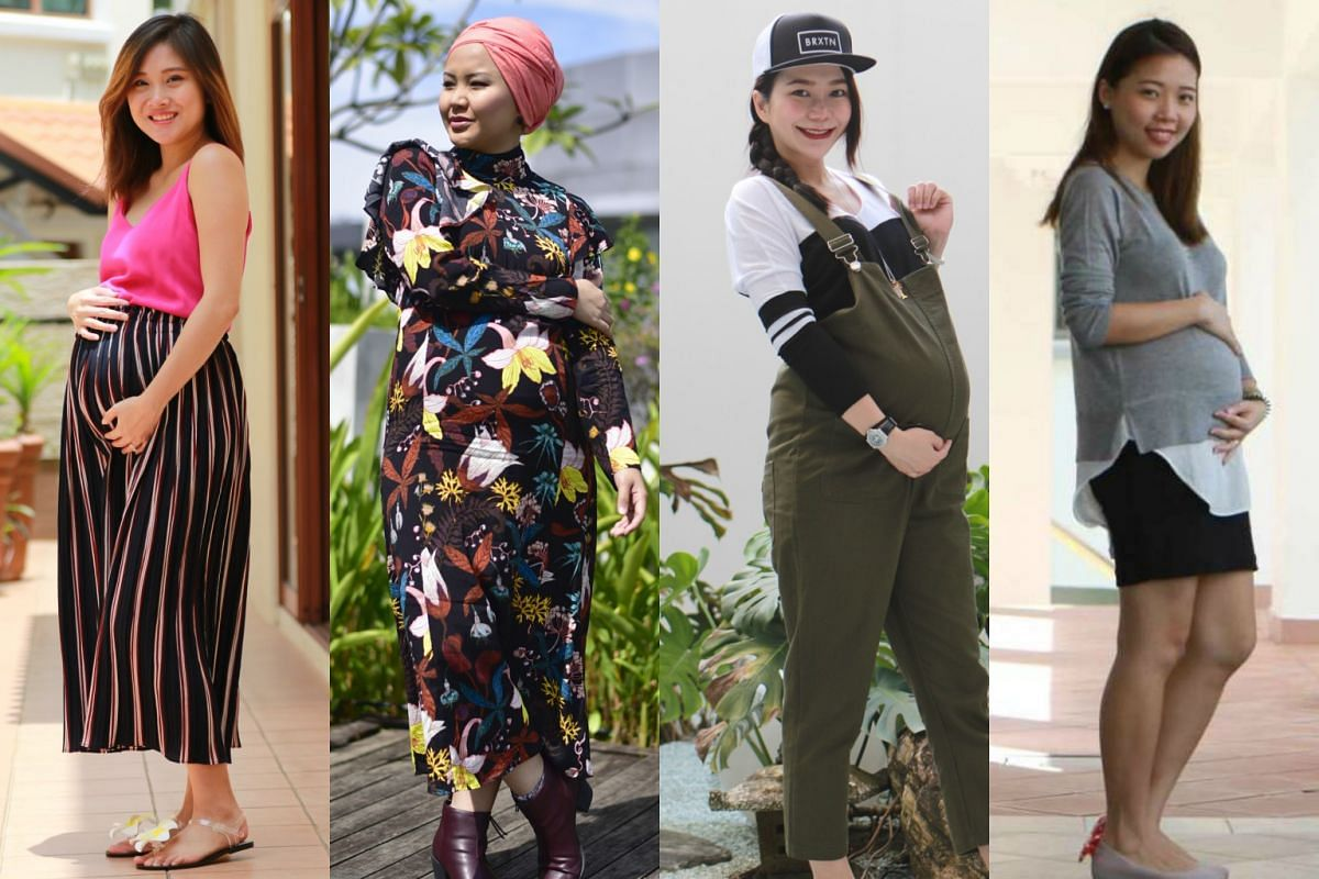 f005a4ec3cfdc More pregnant women in Singapore aspire to look stylish and even flaunt  their growing bellies,