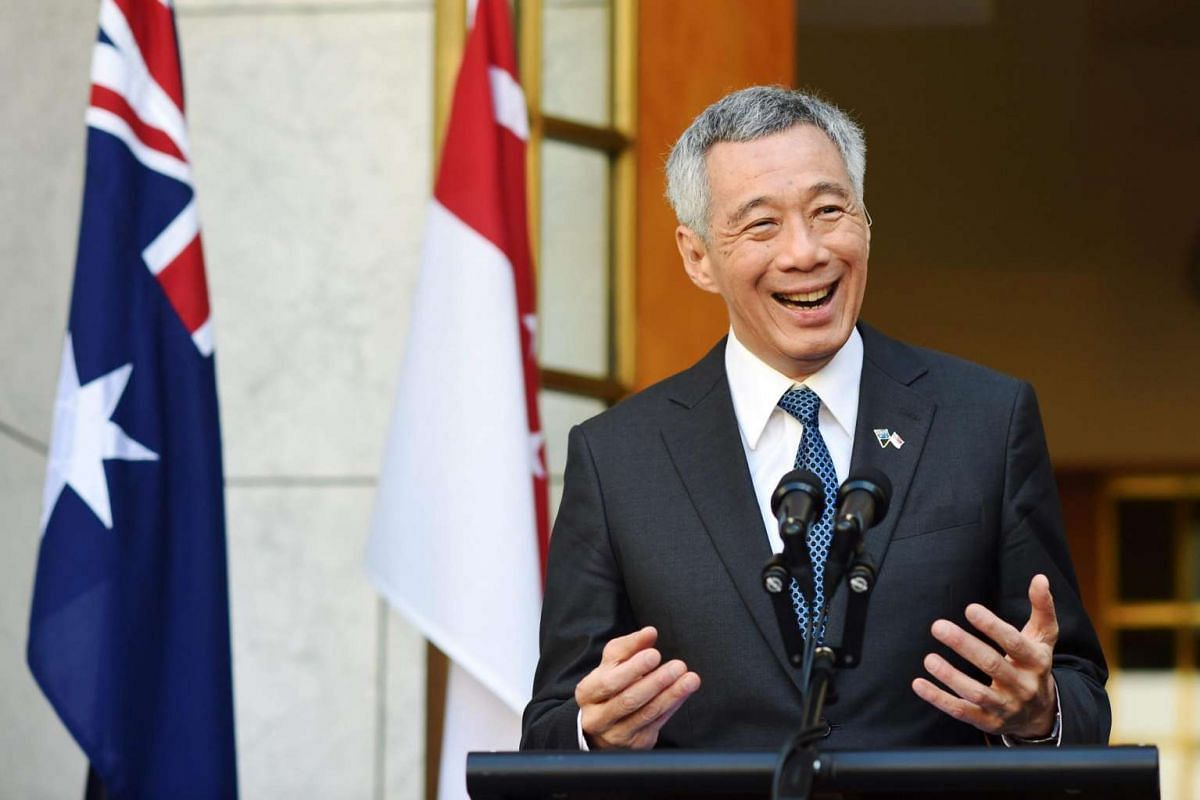 Prime Minister Lee Hsien Loong at a press conference in Parliament House in Canberra, Australia, on Oct 13, 2016.