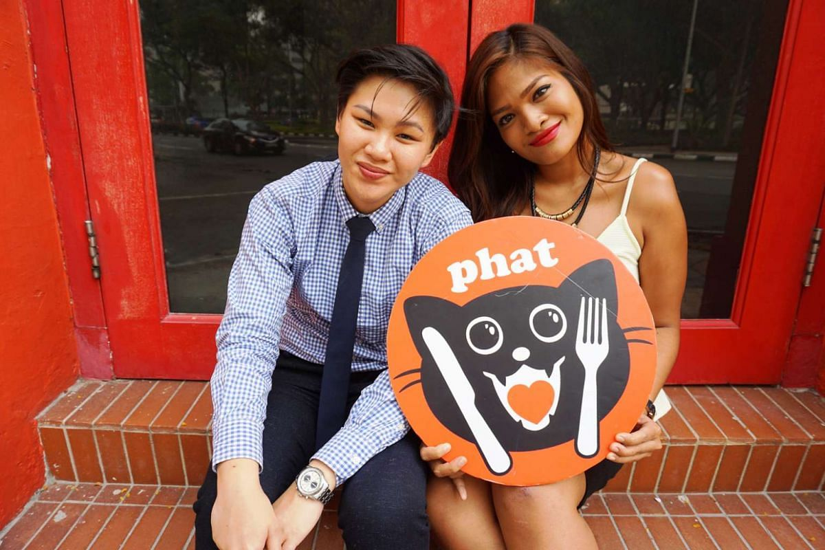 Phat co-founder Ilya Noor, 26, (right), with co-founder Pang Chew Theng.