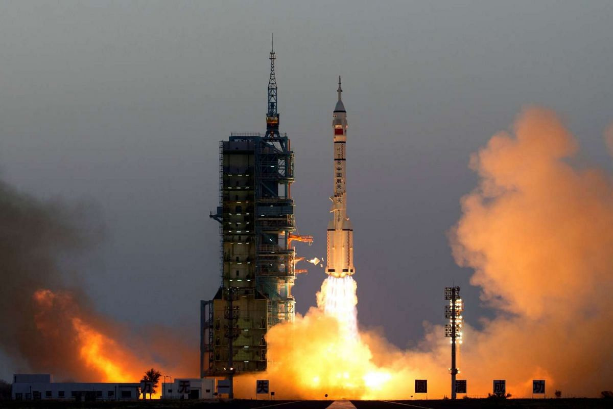 The Shenzhou-11 manned spacecraft carrying astronauts Jing Haipeng and Chen Dong blasts off from Jiuquan, China, on Oct 17, 2016.
