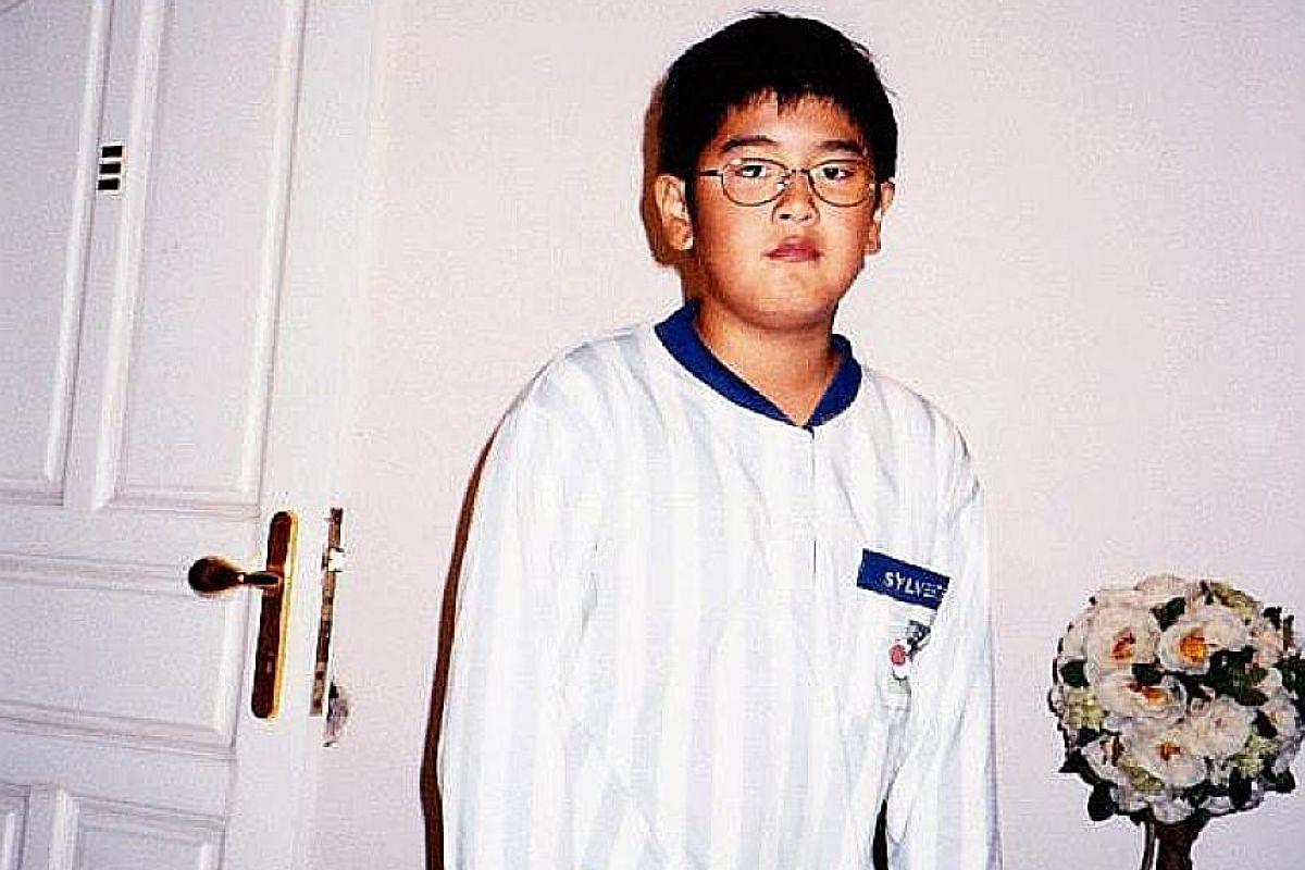 My life so far: Nathan Hartono at age three; 11 (above); and performing at 15.