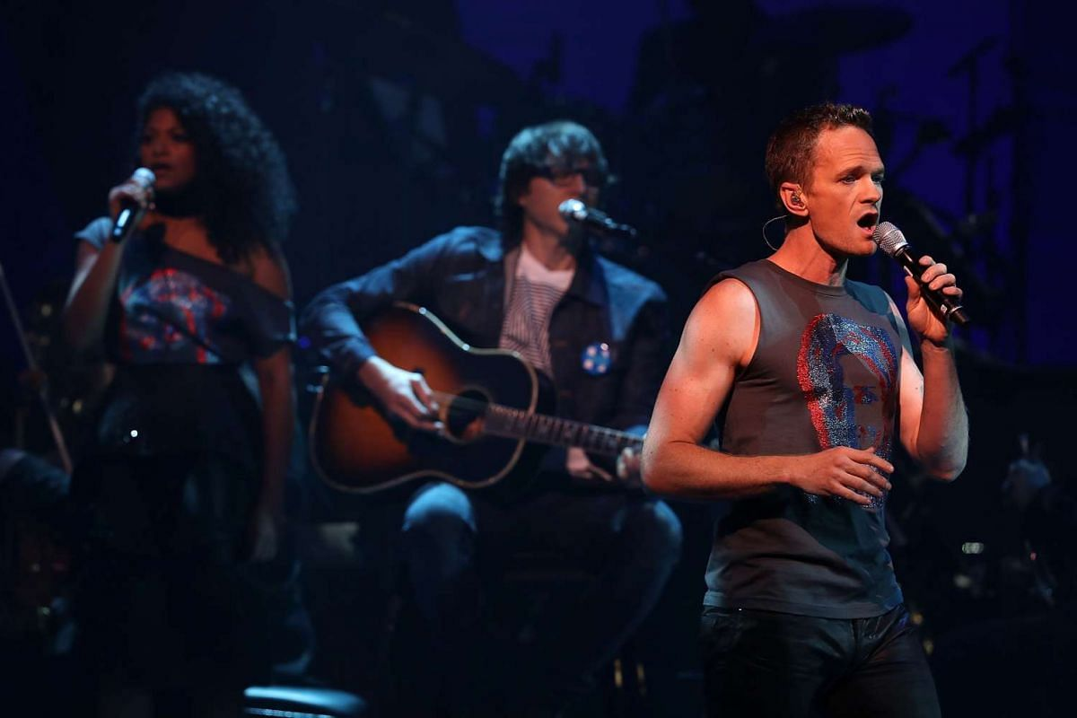 Neil Patrick Harris performing during the Stronger Together fund-raiser, in support of Democratic presidential candidate Hillary Clinton, at St James Theatre in New York on Oct 17, 2016.