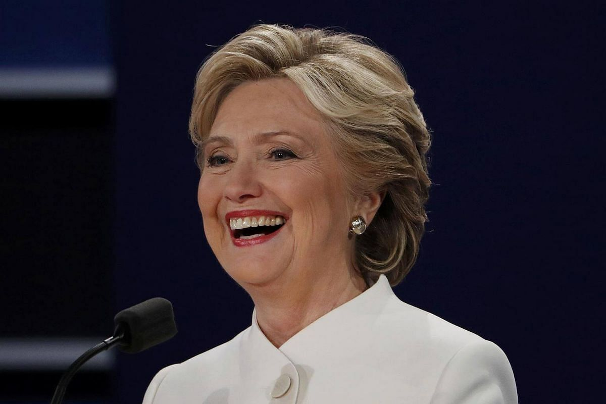 Mrs Hillary Clinton speaks during the third and final 2016 presidential campaign debate in Las Vegas, Nevada.