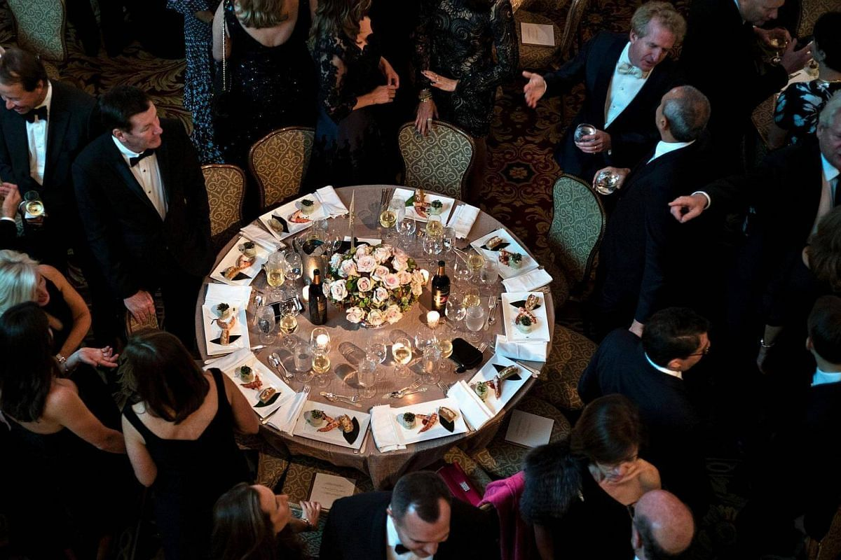 Guests mingle during the Alfred E. Smith Memorial Foundation Dinner at Waldorf Astoria on Oct 20, 2016 in New York.