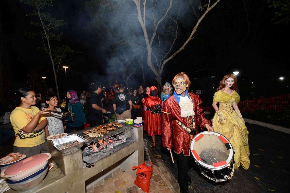 The undead marched to their own beat at Downtown East's Halloween event last year.