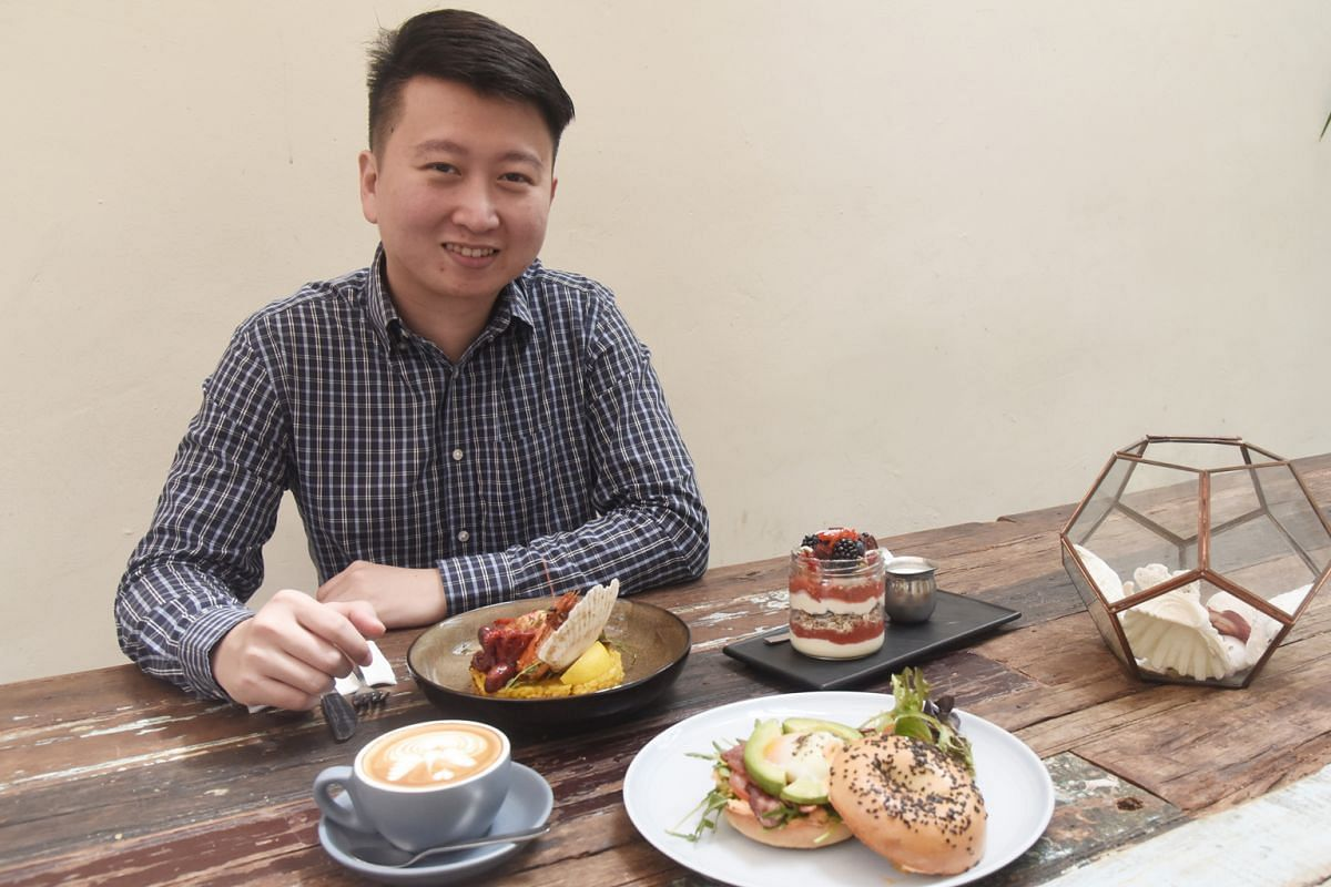 Mr Eugene Chen will go to both cafes and coffee shops to indulge his love of coffee.