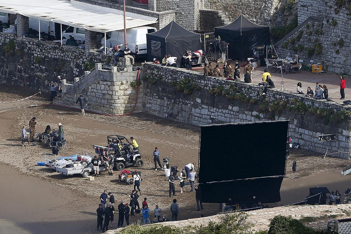 A view of the shooting of the seventh season of the television series Game Of Thrones at the castle of Zumaia, Basque Country, Spain on Oct 25, 2016.