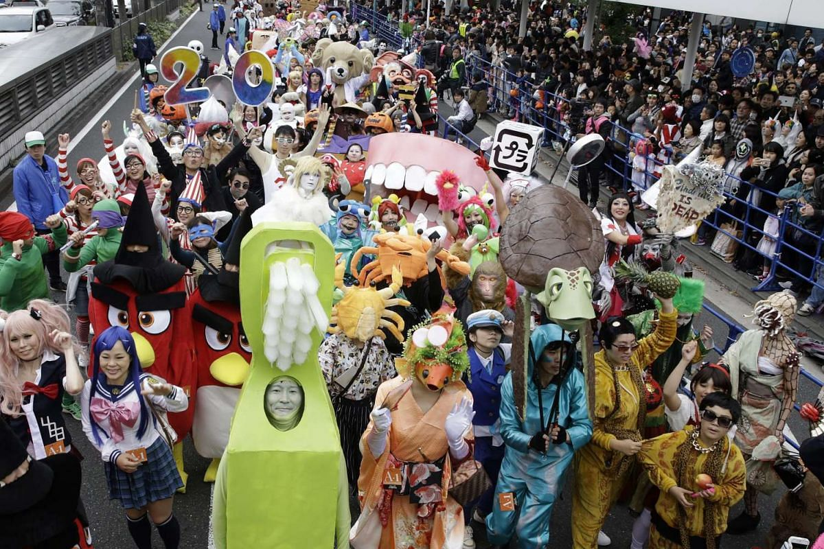 Participants in costume take part in the Kawasaki Halloween event in Kawasaki city on Oct 30, 2016.