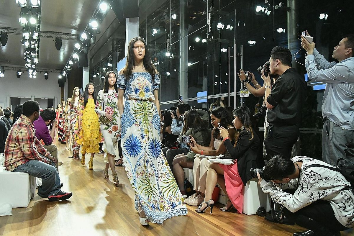 The main stage at the National Gallery Singapore's Supreme Court Terrace provided a sophisticated backdrop for the creations of designers such as Indian- American Naeem Khan.