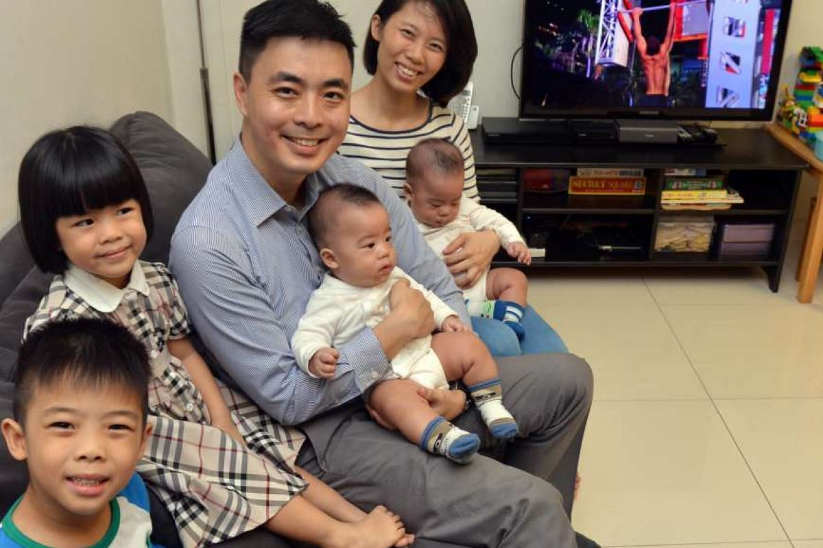 Ms Alicia Boo and Mr Daniel Chai allow their two older children some screen time, but not their babies.