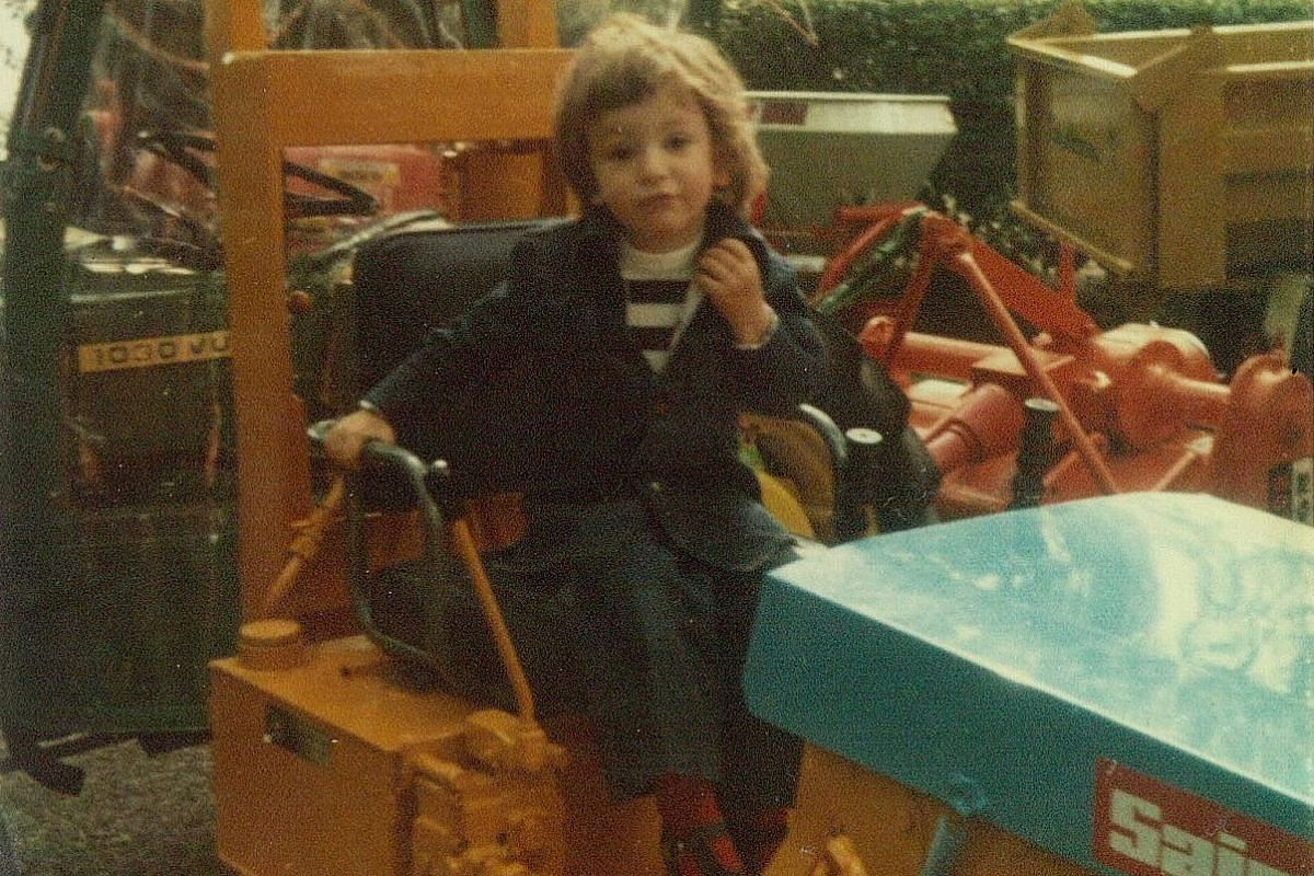 My life so far: Arnault Castel at Narbonne in southern France when he was five years old.