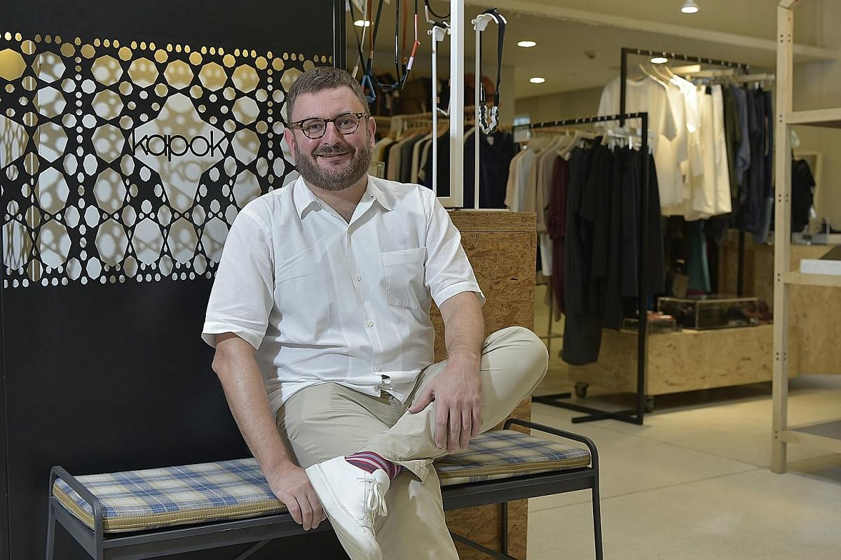 Kapok founder Arnault Castel at his shop in the National Design Centre, one of his two stores in Singapore.
