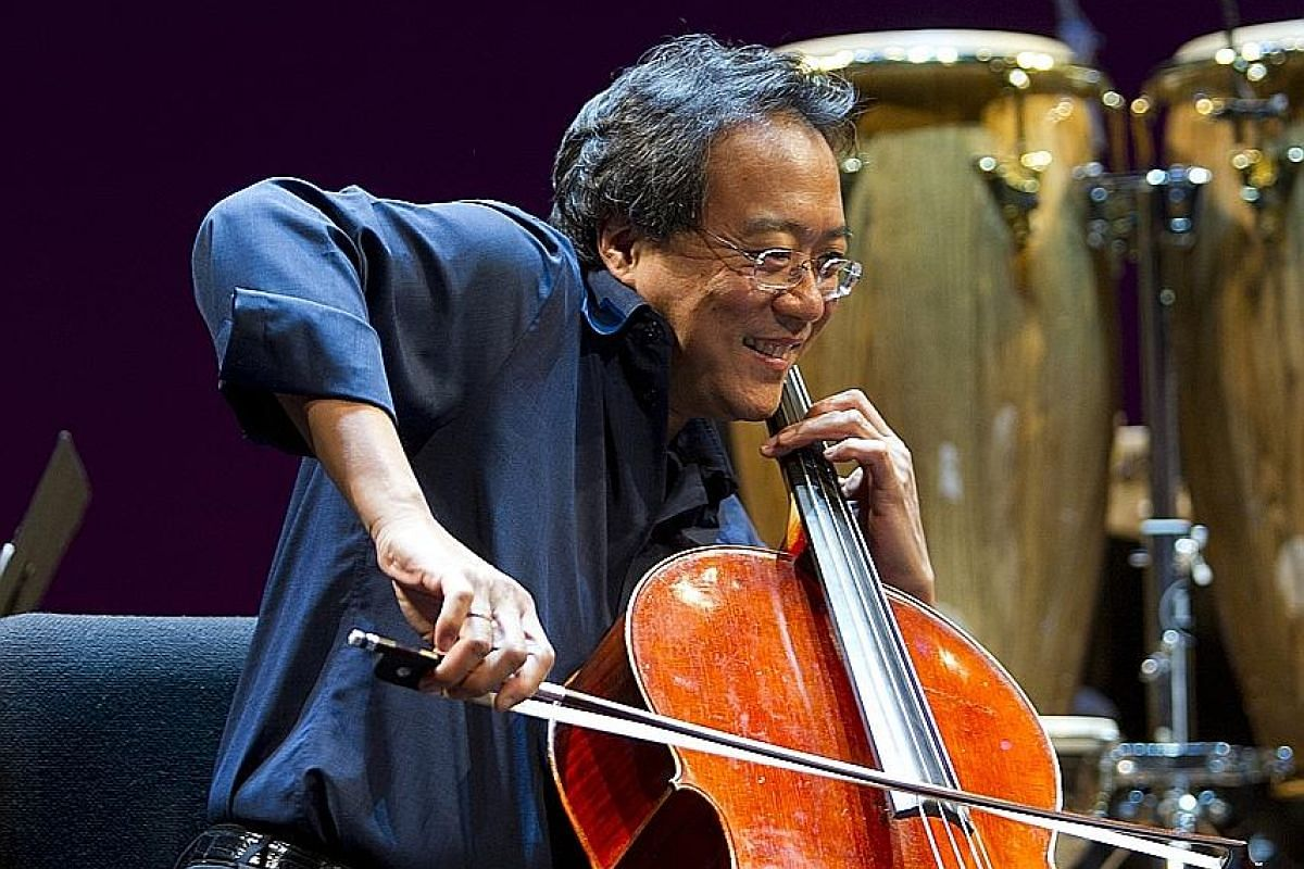 Yo-Yo Ma (above) will perform in Singapore with the Silk Road Ensemble on Friday and Saturday.