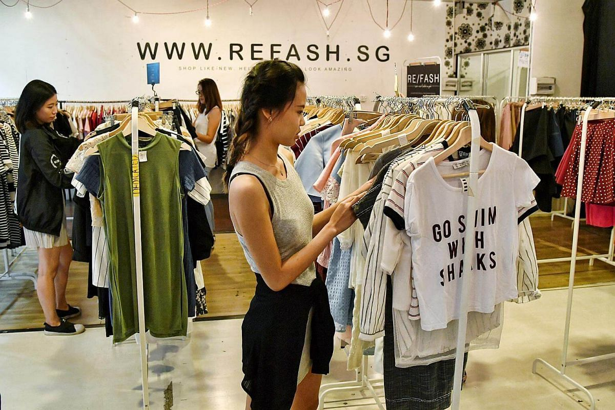 Refash is a stylish, second-hand clothing shop in City Plaza in Geylang.