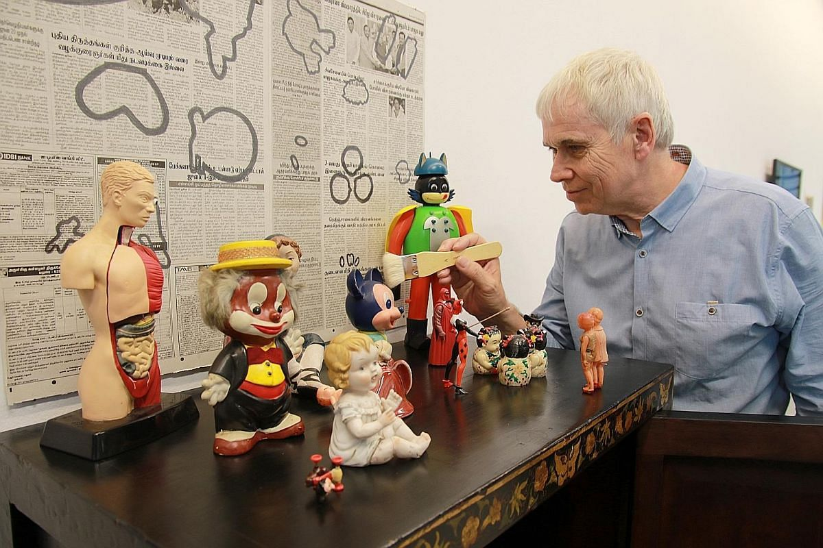 Professor Steve Dixon started buying and collecting figurines from Sungei Road flea market in 2012.