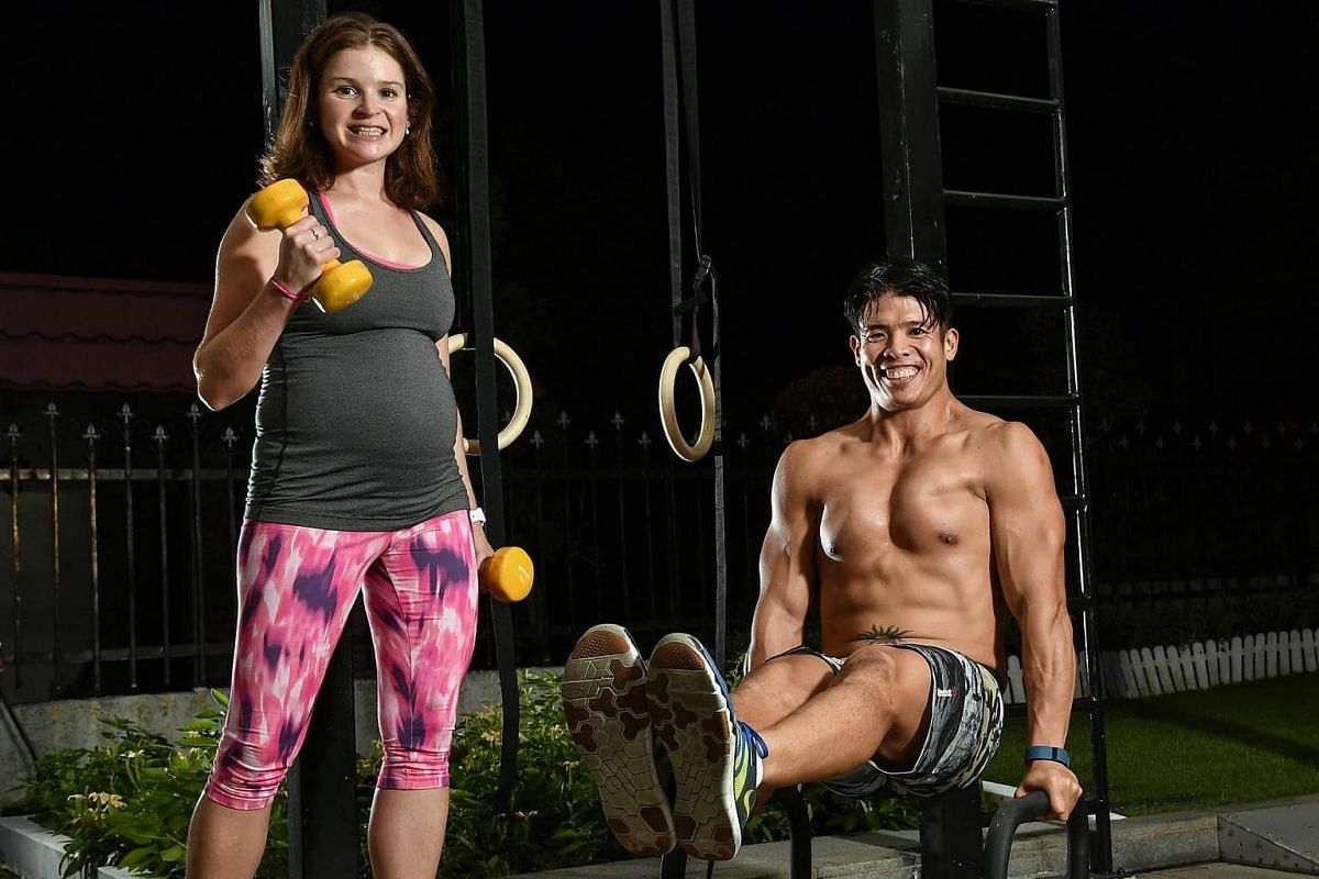 Endurance athlete Emilie Tan and bodybuilder Luke Tan.