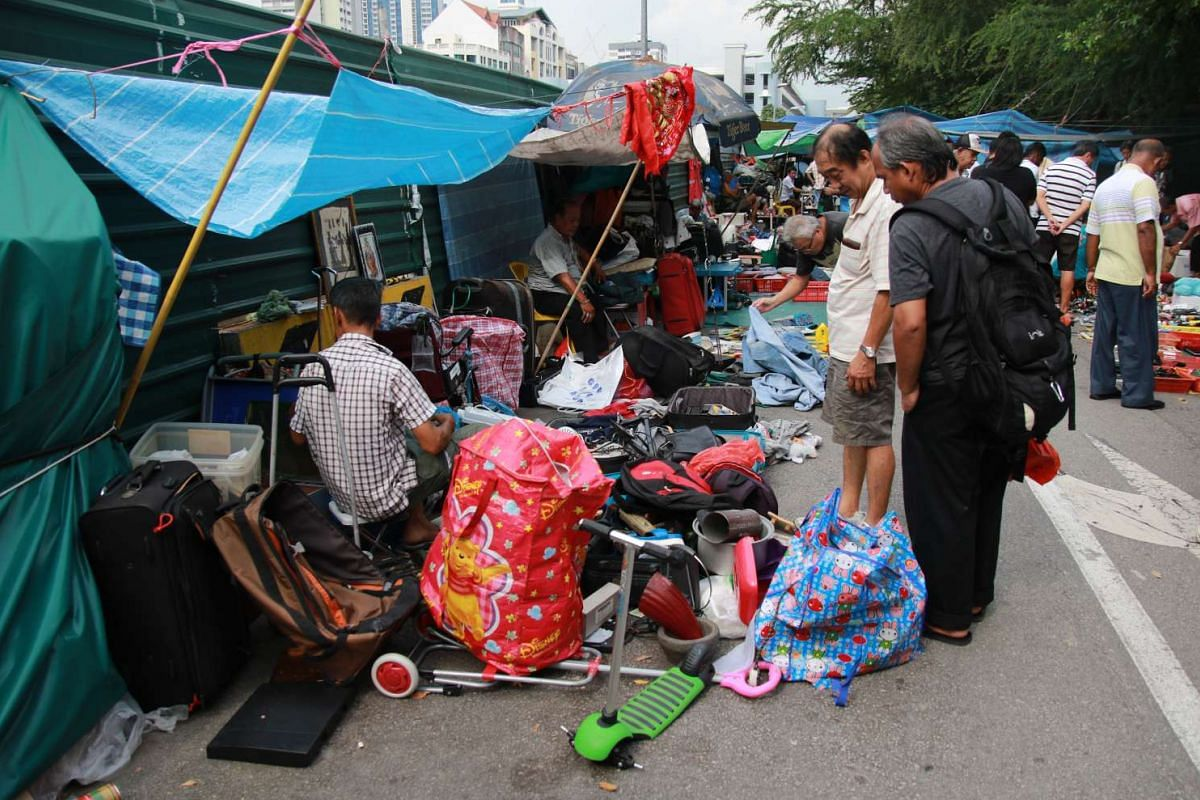 The Sungei Road flea market first appeared in the 1930s.